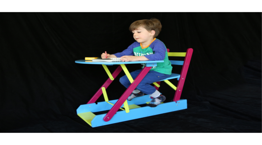 Folding Kid Desk and Chair Set